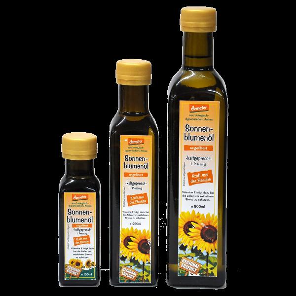Demeter Bio Sonnenblumenöl kaltgepresst