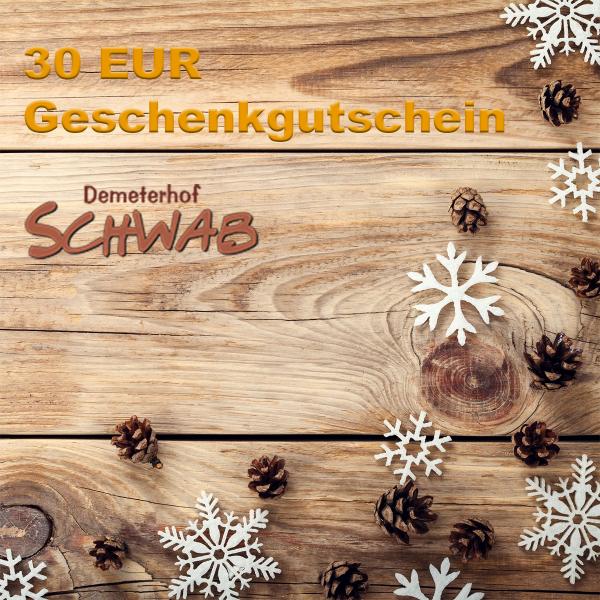 30 EUR PDF-Geschenkgutschein Weihnachten 2018