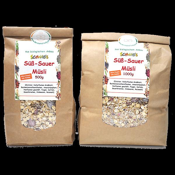 Bio Süß-Sauer Müsli ohne Zusatz von Zucker