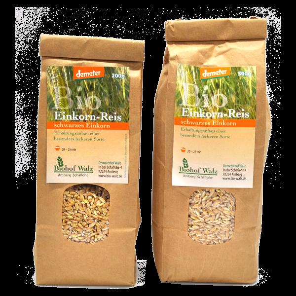 Demeter Bio Einkorn Reis Sorte: Schwarzes Einkorn