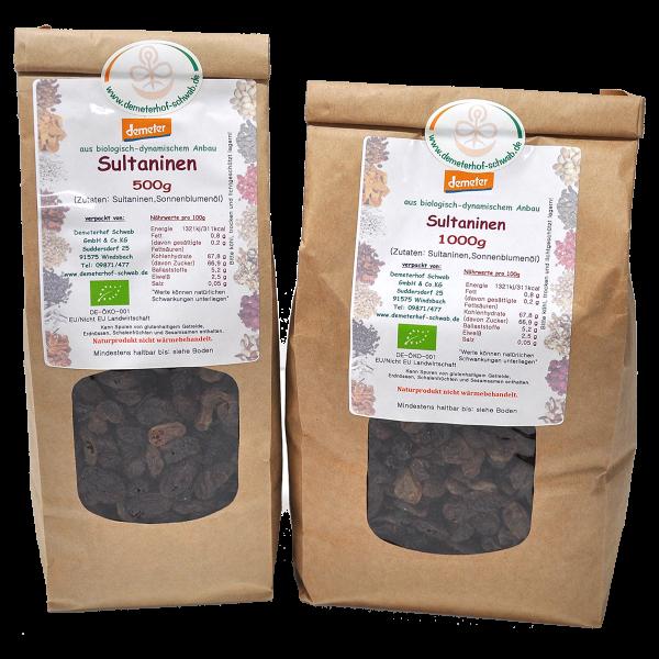 Demeter Bio Sultaninen - ohne Zusatz von Zucker