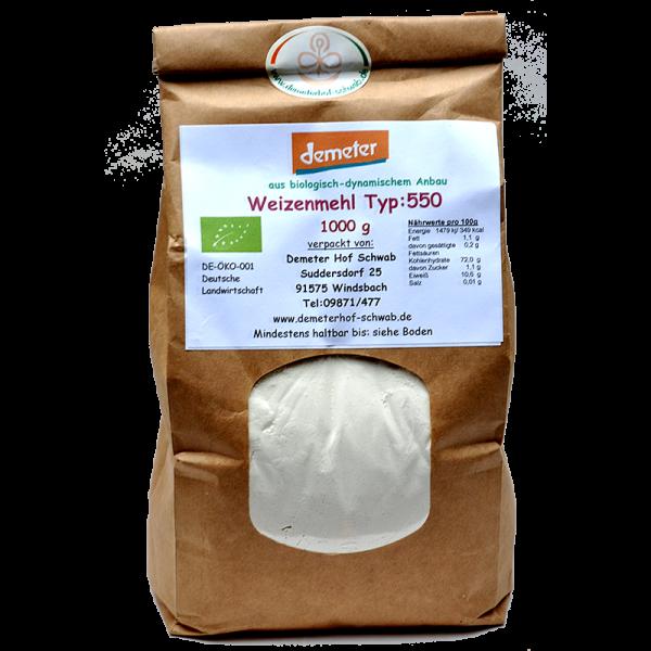 Demeter Bio Weizenmehl Typ:550