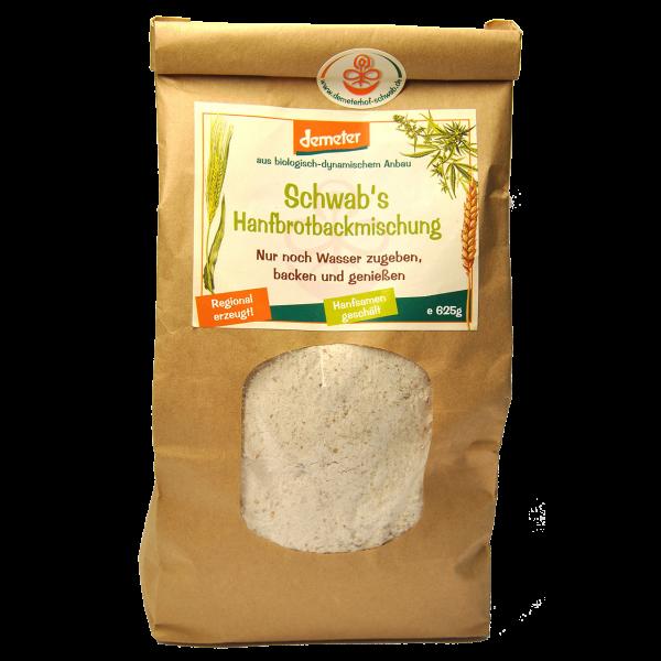 Demeter Bio Hanfbrotbackmischung mit geschältem Hanf aus frischem Vollkornmehl