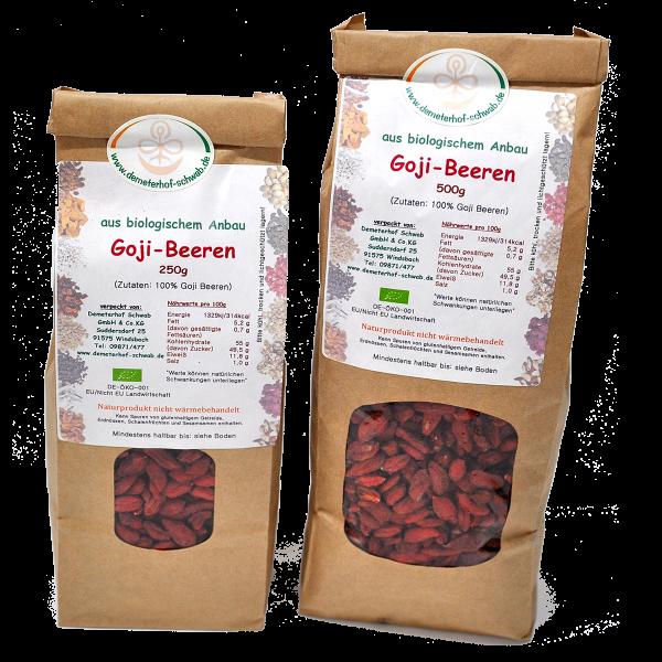 Bio Goji Beeren - ohne Zusatz von Zucker