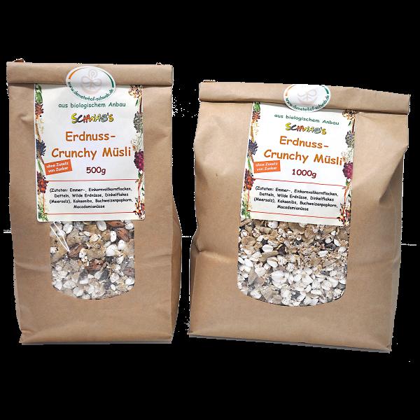 Bio Erdnuss-Crunchy - ohne Zusatz von Zucker