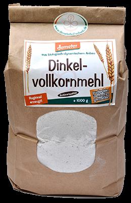 Demeter Bio Dinkelvollkornmehl - puderfein gemahlen