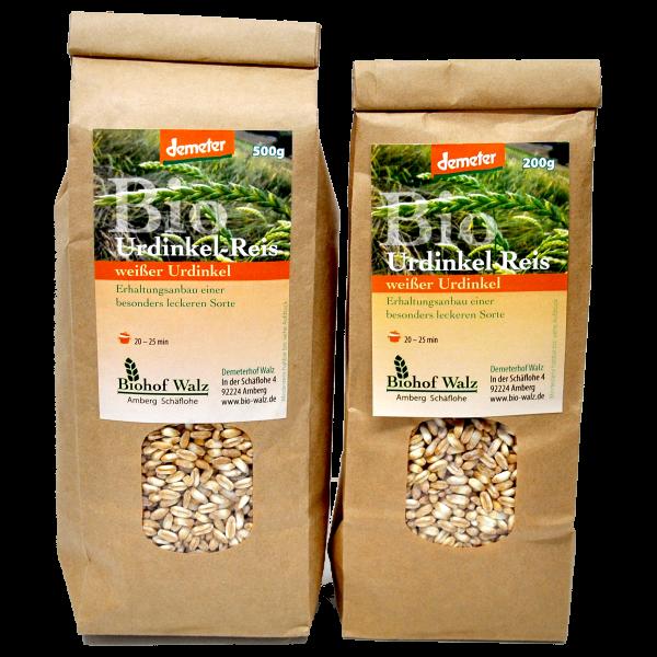 Demeter Bio Dinkel Reis Sorte: weißer Urdinkel