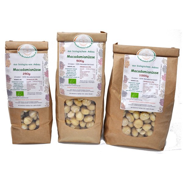 Bio Macadamia Nüsse