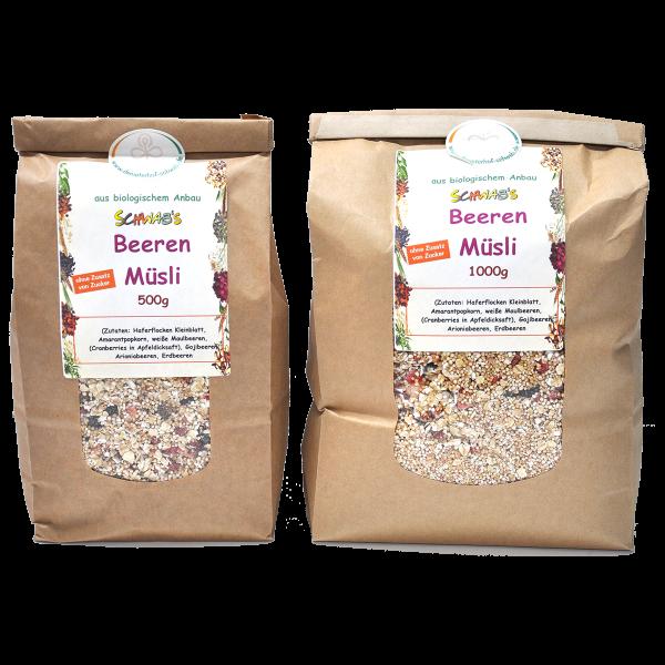 Bio Beeren Müsli ohne Zusatz von Zucker