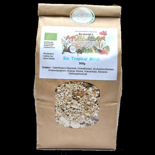 Bio Tropical Müsli- ohne Zusatz von Zucker