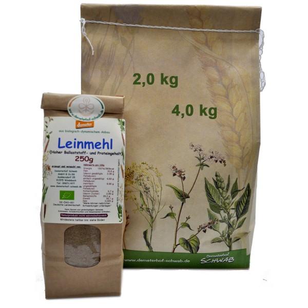 Demeter Bio Leinmehl (Eiweißreich)