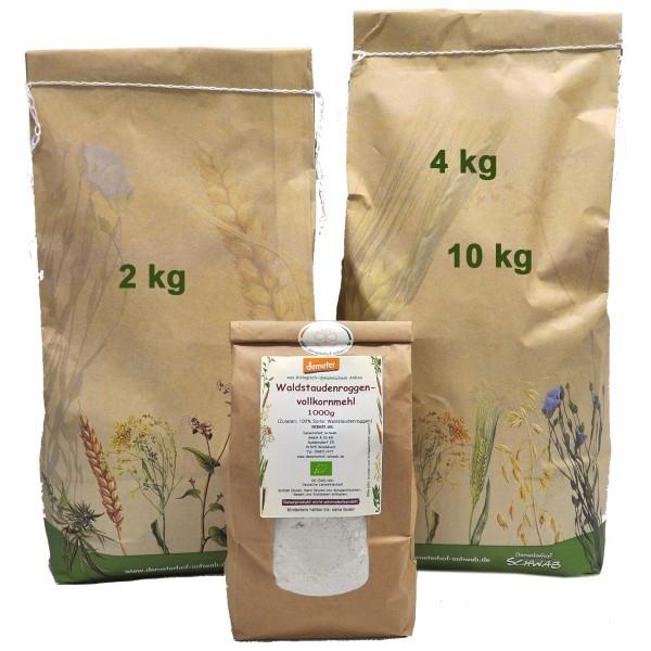 Demeter Bio Waldstaudenoggenvollkornmehl - puderfein zentrofan gemahlen (Ursorte)