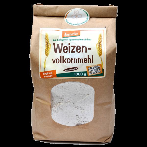 Demeter Bio Weizenvollkornmehl - puderfein zentrofan gemahlen