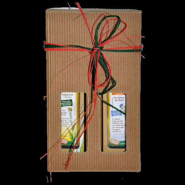 Demeter Bio Leindotter/Leinölgeschenkset je 250 ml