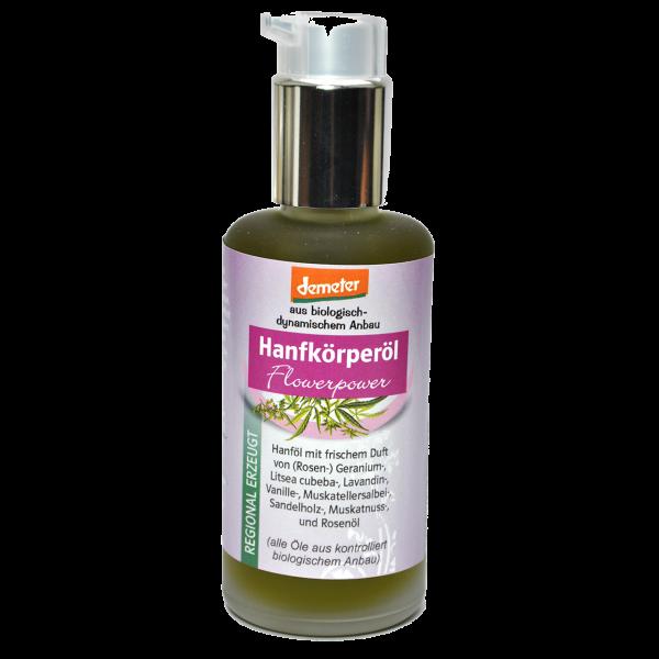 Demeter Bio Hanfkörperöl Flowerpower