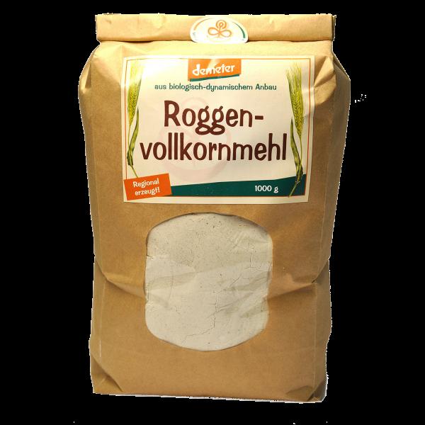 Demeter Bio Roggenvollkornmehl - puderfein zentrofan gemahlen