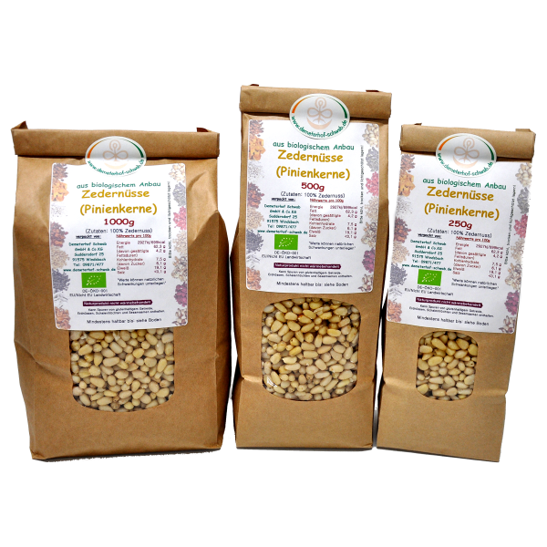 Bio Zedernüsse (Pinienkerne)