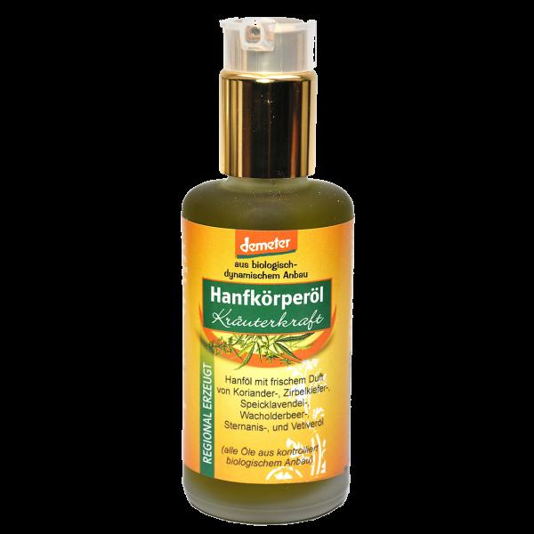 Demeter Bio Hanfkörperöl Kräuterkraft